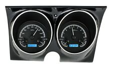 1967-68 Chevrolet Camaro Firebird Dakota Digital Black Alloy Blue VHX Gauge Kit