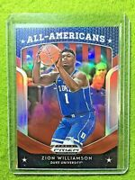 ZION WILLIAMSON PRIZM ROOKIE CARD RED REFRACTOR JERSEY #1 DUKE RC  2019 PELICANS