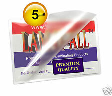 1000 LAM-IT-ALL Hot 5 Mil Business Card Laminating Pouches 2-1/4 x 3-3/4 Clear
