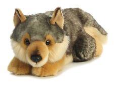 """11"""" Lying Wolf Plush Stuffed Animal Toy - New"""