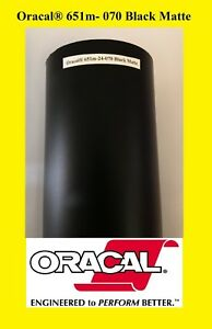 """12"""" x 150 FT Roll Black Matte Oracal 651 Vinyl Good for Cameo Silhuette Sign 070"""