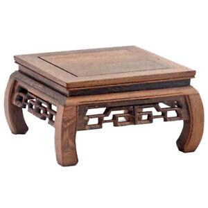 Wenge Wooden Table Art Flowerpot Holder Flower Plant Stand Buddhist Altar Table