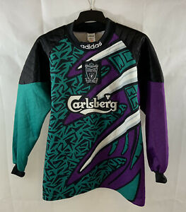 Liverpool GK Football Shirt 1995/96 Adults Small Adidas D386