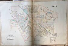 1900 J.L. SMITH, DELAWARE COUNTY, PA, RADNOR CRICKET CLUB, COPY PLAT ATLAS MAP