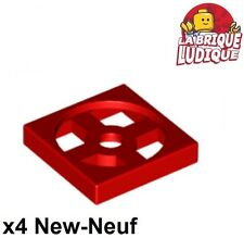Lego - 4x turnable plaque tournante base 2x2 rouge/red 3680 3679 NEUF