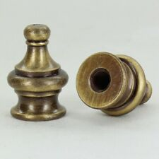 PYRAMID ~ Solid Brass Lamp Finial ~ Antique Brass Finish ~ #GB42