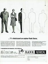 PUBLICITE ADVERTISING 126  1966   photocopieur Rank Xerox