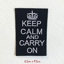 Keep Calm And Transporter sur Badge Brodé Repasser Patch à Coudre #1531