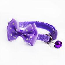 Pet Bowknot Necktie Collar Cute Bow Tie Bell Kitten Puppy Adjustable Dog Cat New