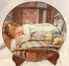 Bedtime Prayers Young Innocence Danbury Mint Collector Plate Kathy Lawrence