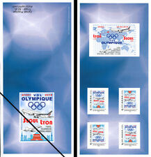 "FRANCE Carnet Collector ""Vol Olympique PyeongChang 2018 B777 AF Séoul-Lyon"" bleu"