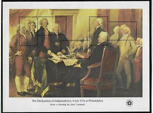 USA 1976 MNH (5) DIFFERENT AMERICAN BICENTENNIAL SOUVINER SHEETS