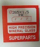 Quality Watch Glass Mineral Crystal Face Flat Round 1.5mm Thick Ø 16.1mm to 40mm