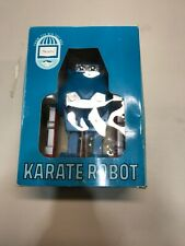 Vintage Sears Karate Robot W/ Box Mob New Rare Toy Japan Battery Opp Blue