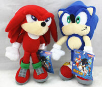 2PCS Sonic The Hedgehog Sonic Knuckles Plush Toy Stuffed Figure Doll 8 inch