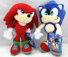 2PCS Sonic The Hedgehog Sonic Knuckles Plush Toy Soft Figure Doll US SHIP