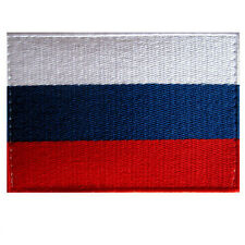VEGASBEE® RUSSIAN FLAG EMBROIDERED PATCH RUSSIA TRICOLOR 9CM X 6CM VELCRO®