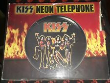 Kiss Neon Telephone W Box Kiss logo figures light up & play Rock n Roll All Nite