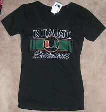 NEW NCAA Miami (Fla) Hurricanes Basketball T Shirt M Medium Women Ladies NEW NWT