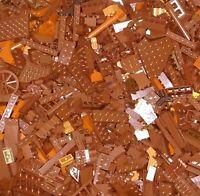 Bulk LEGO Lot BROWN ORANGE Bricks Baseplates Plates Specialty Pieces 8 lb Pounds