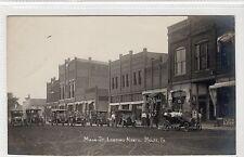 MAIN STREET LOOKING NORTH, ROLFE: Iowa USA postcard (C14869)