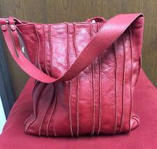 Elliott Lucca Large Red Pebbled Leather Tote/shoulder Bag.