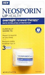 Neosporin Lip Health Overnight Renewal Therapy 0.27 oz (Pack of 9)