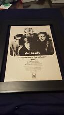 The Heads Are You Lonely For Me Baby? Rare Original Promo Poster Ad Framed!