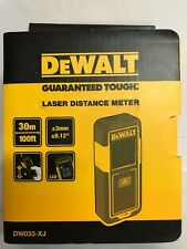 DeWalt DW033-XJ 30m 100ft Digital Laser Distance Meter Tough 3year Guarantee NEW