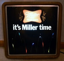 VINTAGE MILLER HIGH LIFE LIGHTED BEER SIGN BOUNCING BALL DATED 1982