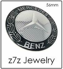 MERCEDES BENZ Steering Wheel / Car Hood Emblem - BLACK 56mm logo sticker z7qq