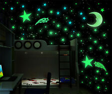 100pc Glow In The Dark Stars Stickers Bedroom Home Wall Baby Kids Room Decor New
