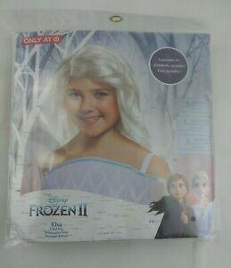 Disney Frozen 2 II Elsa Snow Queen Blonde Child's Wig for Roleplay or Halloween