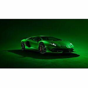Lamborghini Green Sports Car Poster Self Adhesive Wall Sticker Art Decal Mural
