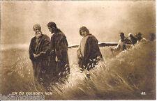 Carte postale religieuse, en zij volgden hem, et ils le suivirent, non écrite.