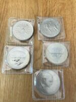 5 Crown Coin Set, Churchill , Charles Diana Queen Mother Elizabeth Philip