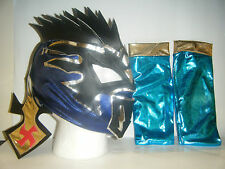 KALISTO & Braccio Maniche per Bambini Wrestling Mask Fancy Dress Up Lucha Draghi WWE
