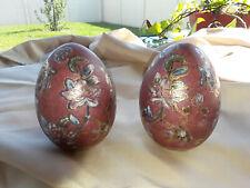Vintage Chinoiserie Decorative Eggs - Set of 2