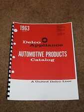 Delco Motor Catalog 1946-1963 for Seats,Windows,Tops,Air,Wiper,Antenna,Part #s..