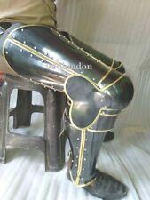 Halloween Best Quality Medieval Knight Leg Armor Brass Fitting Leg Armor 18 Ga