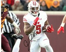 Chris James Wisconsin Badgers Football Signed 8X10 Photo