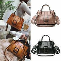 Ladies Vintage Handbag Shoulder Bags Tote Leather Boho Crossbody Purse Satchel