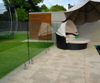 Stainless Steel Frameless Floor Spigot Glass Clamp. 10-12mm Balustrade spiggot