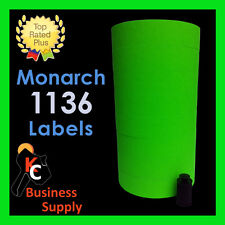 Monarch 1136 labels Green price gun, 8 rolls - ink roller included Made in USA