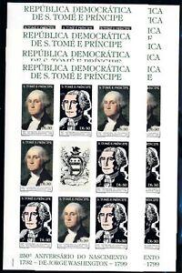 [PG20013] Sao Tome & Principe1982 : 10x Good Very Fine MNH Imperf Sheet