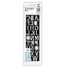 X cut alphabet lettering die 'Alice' use xcut, sizzix, cut n boss, ebosser etc
