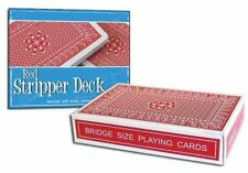 STRIPPER PRO BRAND RED DECK PLAYING CARDS BRIDGE SIZE MAGIC MAKERS TRICKS GAFF