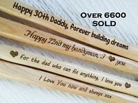 Personalised Father's Gift Unusual Father Day Dad Daddy Present Engraved Hammer