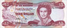 Bahamas 3 Dollars 1974 (1984) Pick 44a (1)