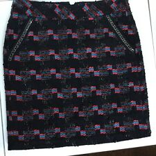 TRINA TURK SPARKLY TWEED MINI DRESS SKIRT, RUNWAY COLECTION 2014, MULTICOLOR